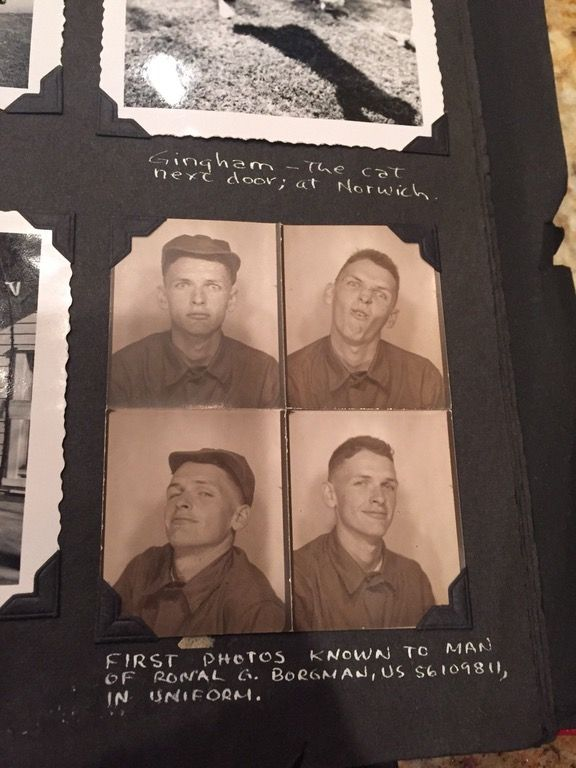 Photos of my grandpa taken when he first got to camp, 1951 : OldSchoolCool
