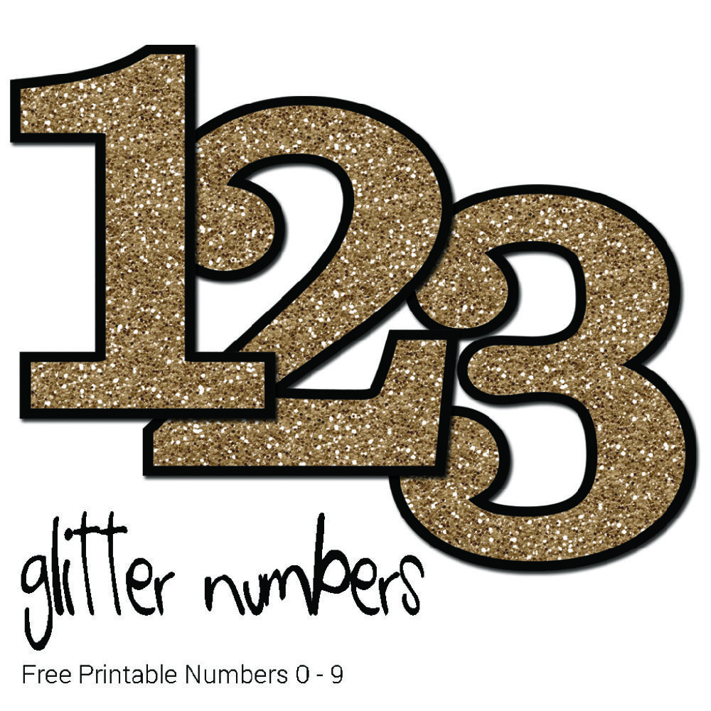 Heres a useful set of glitter numbers from 0 9 these pdf files are in a single download and easy to print use these to make cards and scrapbook pages