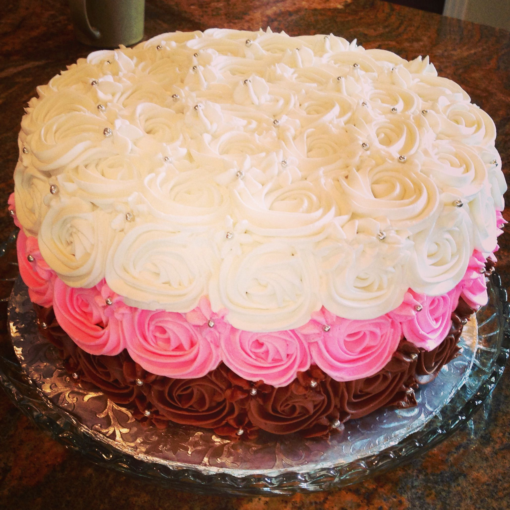 Napoleon Rose Birthday Cake Brittnays Bakery Pinterest