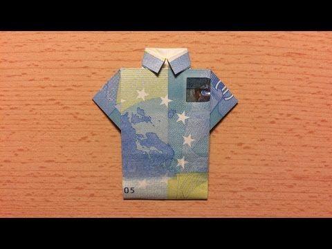 Geldscheine falten: Hemd - Geldgeschenke basteln Hochzeit