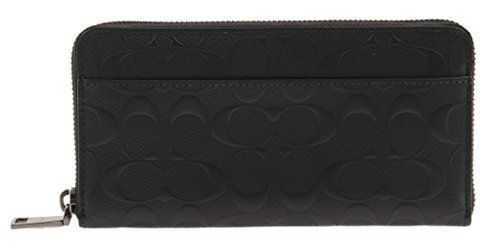 COACH Coach Signature Accordion Zip Around Wallet. #coach #