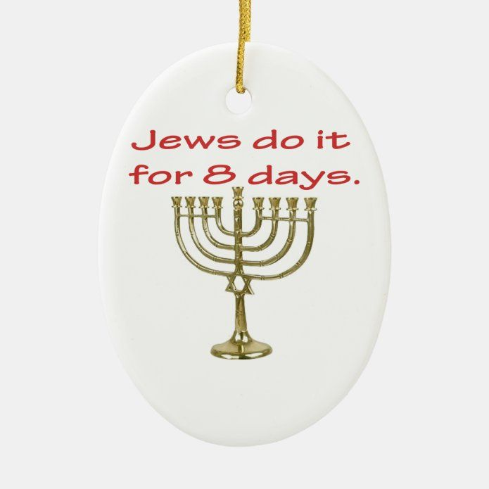 Funny Hanukkah Ceramic Ornament - tap/click to personalize and buy #CeramicOrnament #hanukkah #chanukah #holidays #jewish #menorah