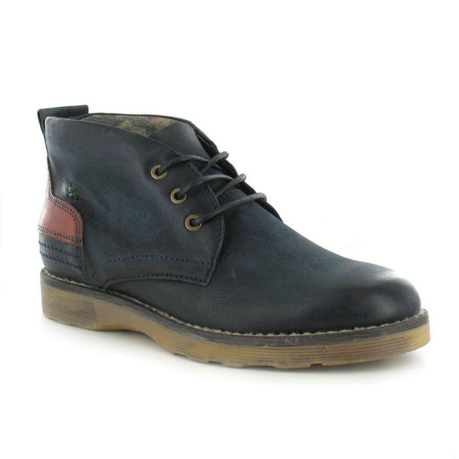 84a5fa649e0 Mjus MJUS 304202 Mens Leather Chukka Boots - Merlino Blue & Tabacco ...