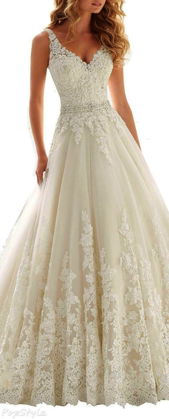 Lace wedding dress with train  Kittybridal Beaded Lace Wedding Dress with Chapel Train Where to