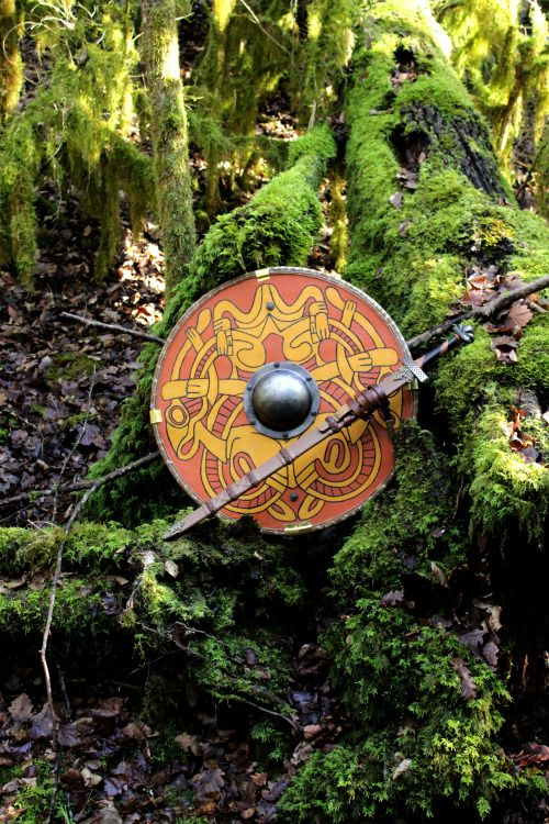 and the forest dreams eternally. Viking shield
