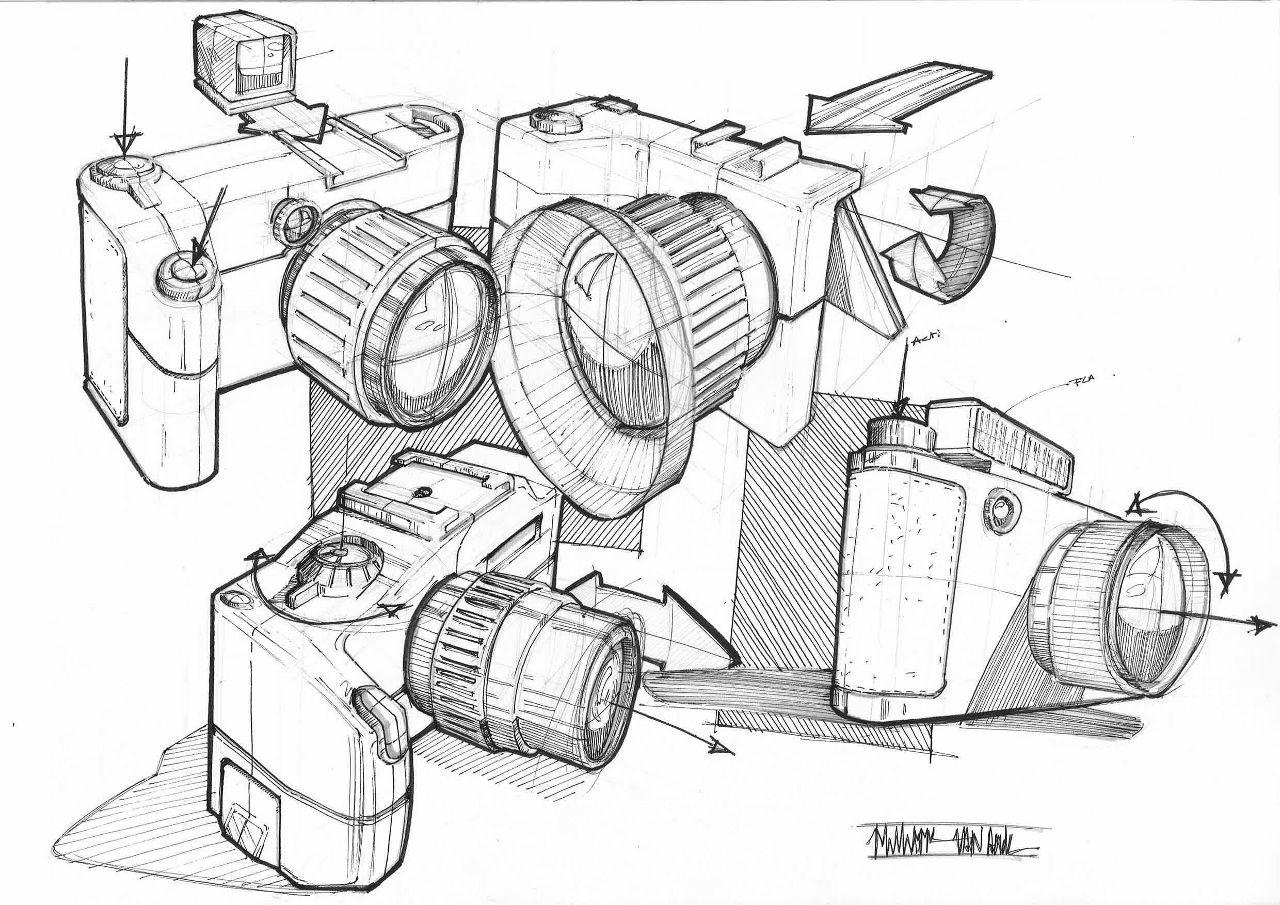 Camera Design Sketch Skizzen Design Produktdesign Industriedesign Zeichnungen