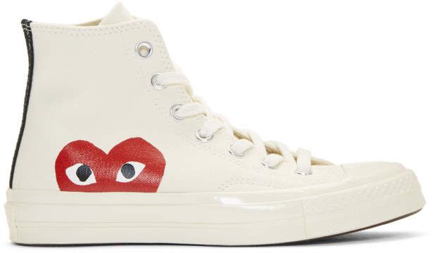 Comme Des Garcons Off White Converse Edition Chuck Taylor All Star 70 High Top Sneakers Off White Converse Sneakers High Top Sneakers