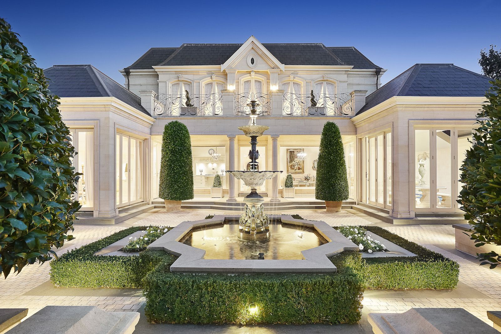 Unsurpassed Luxury in a Refined Manor This most magnificent, recently constructed French Chateau style limestone residence of grand proportions and symmetry exudes six star superior quality and crafts is part of House -