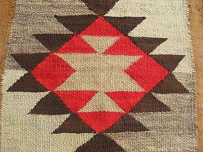 Navajo Native American Indian Rug Blanket Weaving Antique Earth Tone Churro Wool