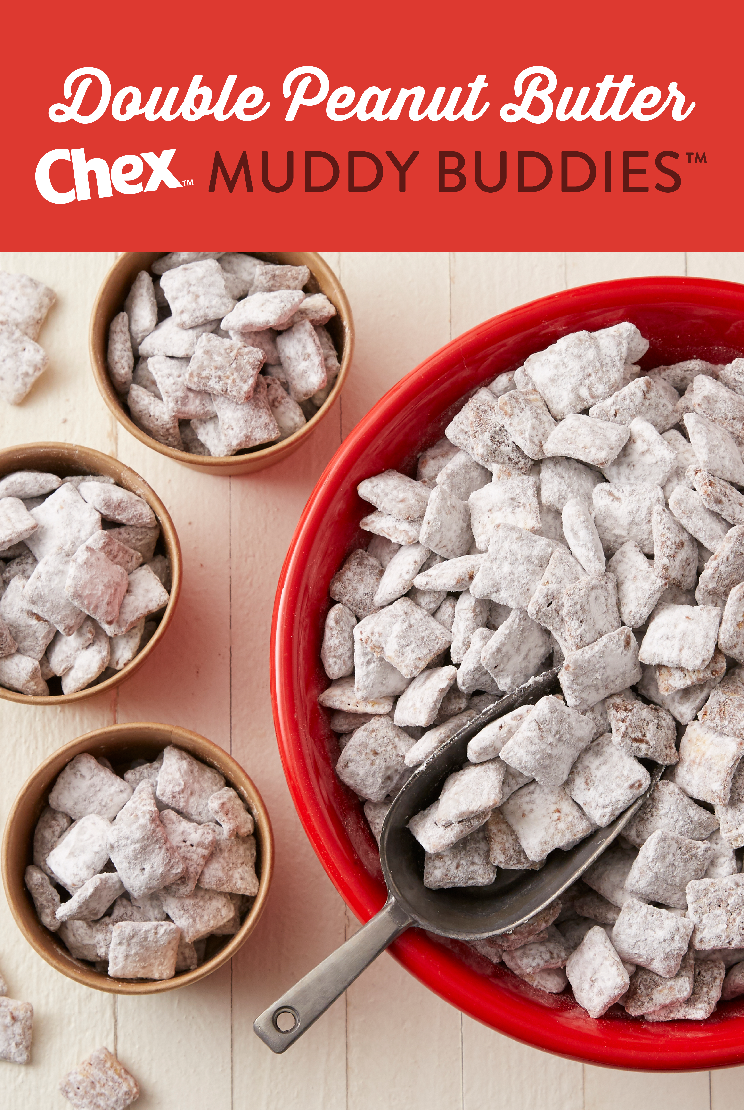 Double Peanut Butter Muddy Buddies Recipe Food Puppy Chow Recipes Food Drink