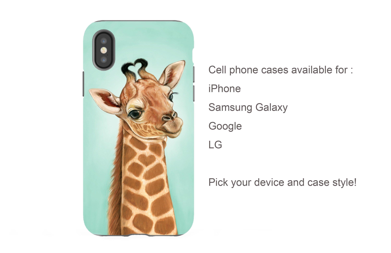 Giraffe phone case giraffe gift animal phone case baby