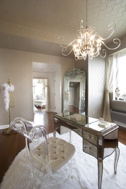 54 Elegant Feminine Home Office