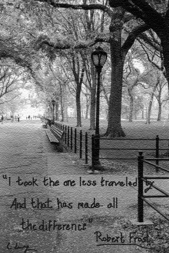 take the road less traveled poem