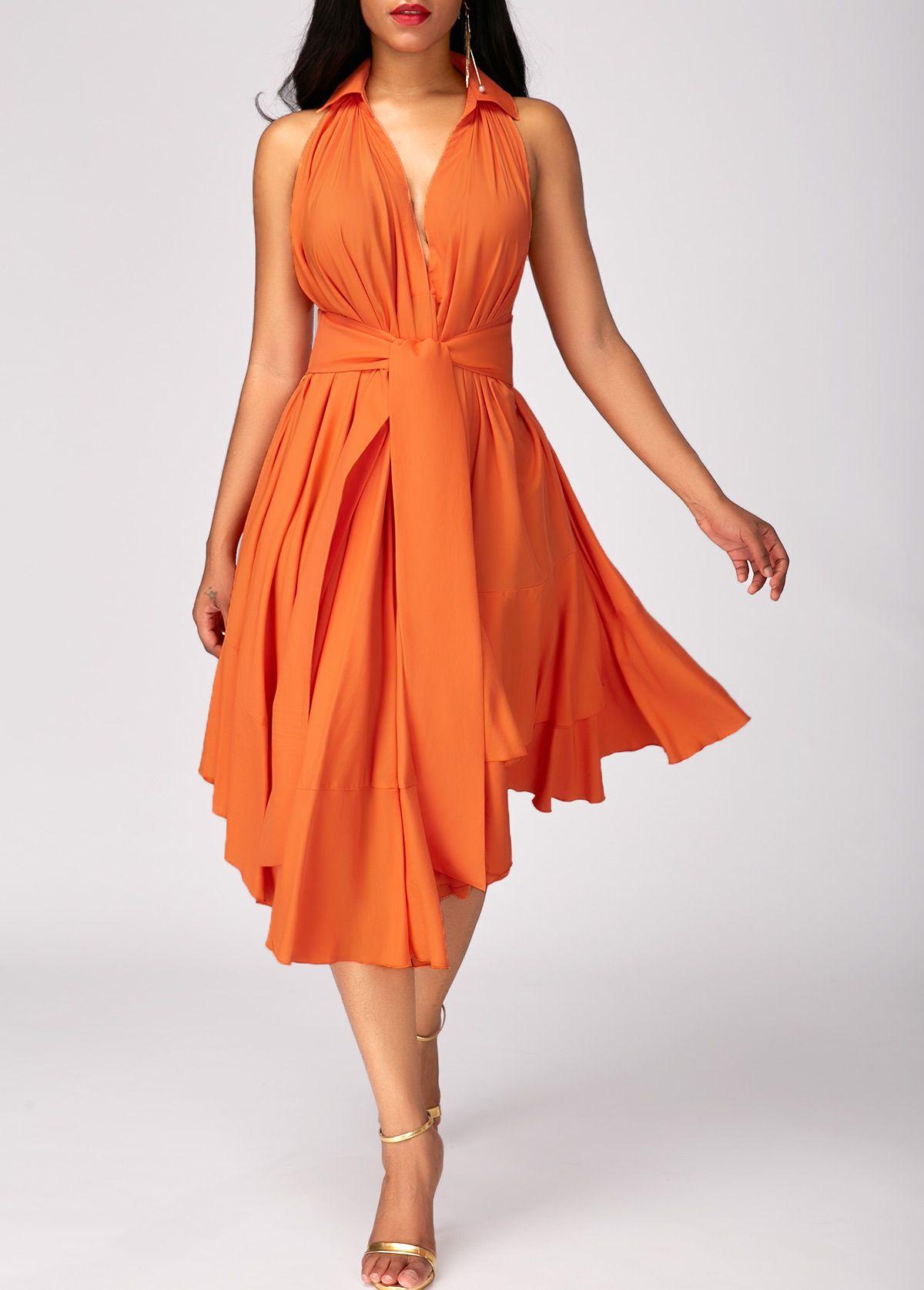 Asymmetric Hem Magas Derekretegu Narancssarga Ruha Rotita Com Usd 30 58 Orange Dress Fashion Dresses Online Casual Dresses [ 1674 x 1200 Pixel ]