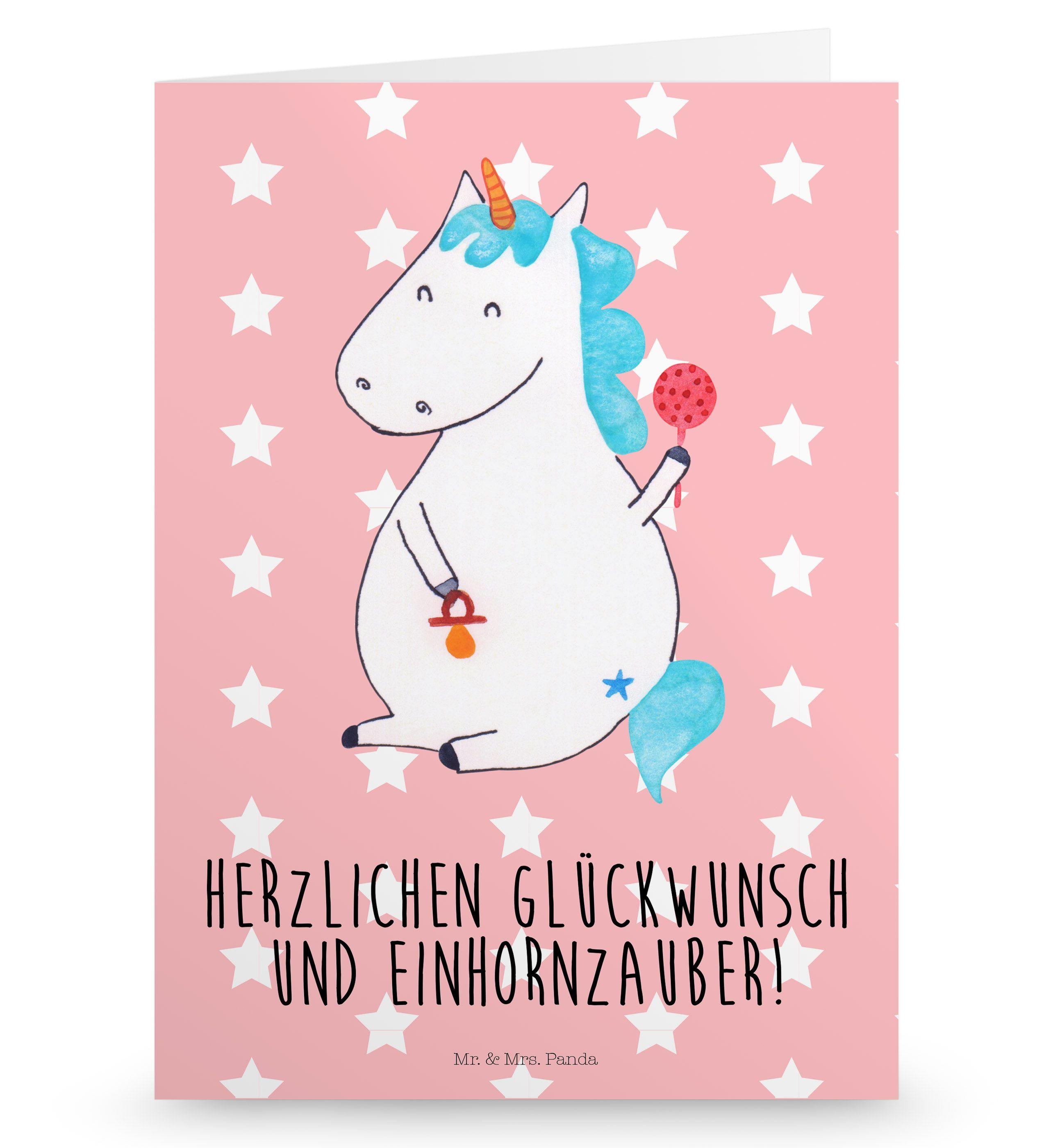 Geschenkkarte Postkarte Einhorn Wolke 7 Ein... Grußkarte Karte Postkarte