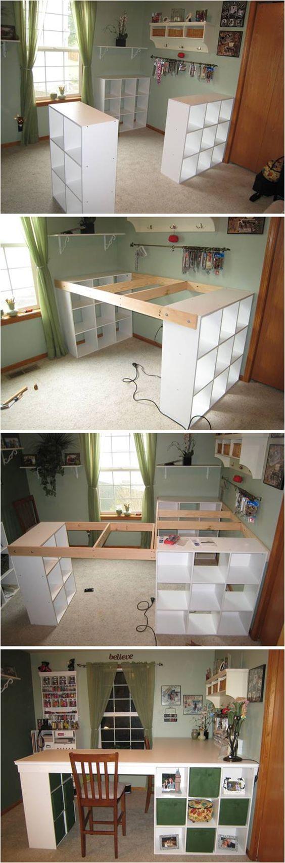 Creative Ideas Diy Customized Craft Desk Crafty Hideaways