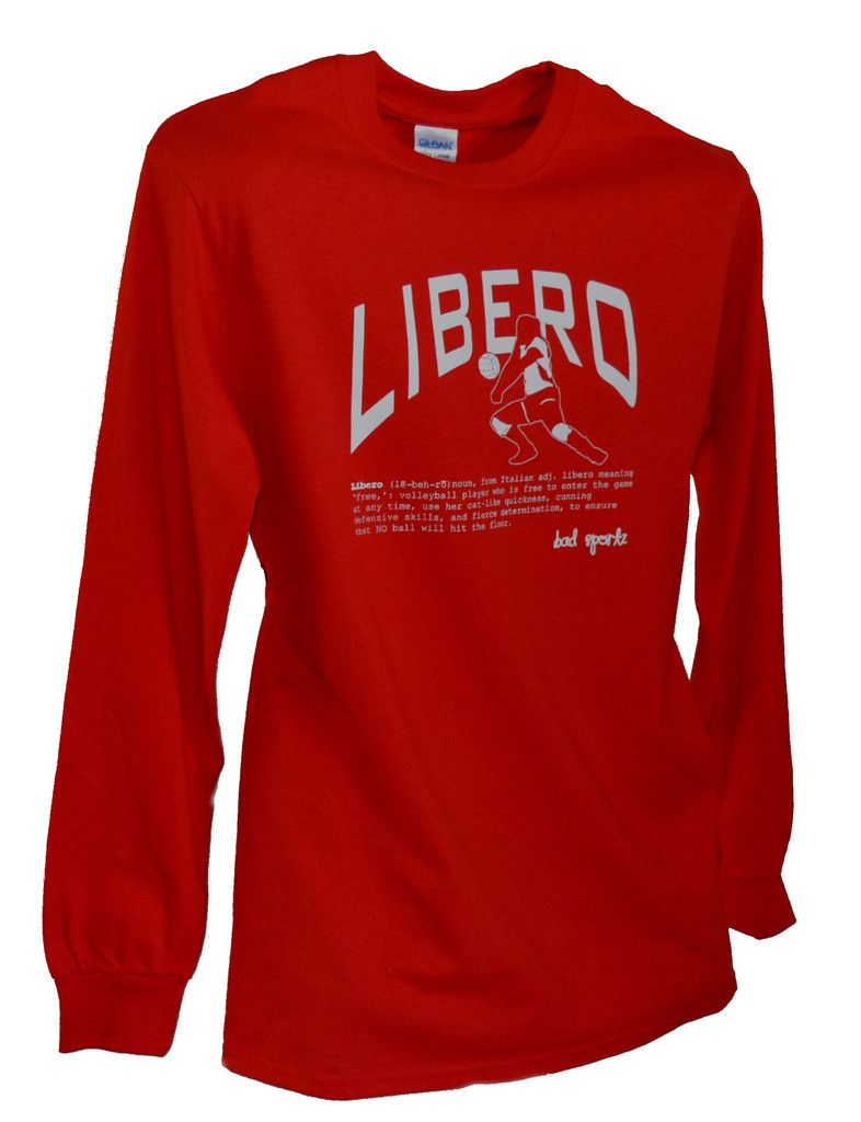 Libero Volleyball Long Sleeve Position Shirt With Definition Libero Volleyball Volleyball Sweatshirts Volleyball Outfits