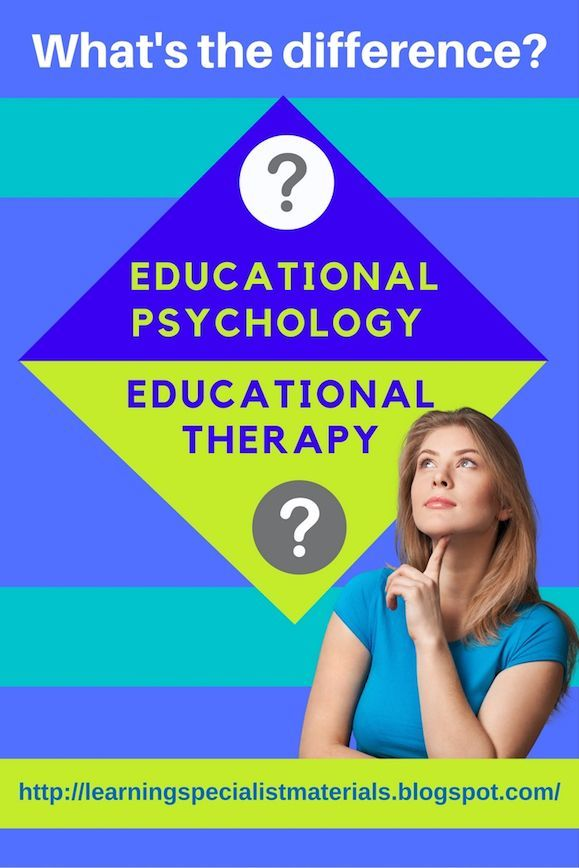 Learning Specialist and Teacher Materials - Good Sensory Learning: What's the Difference Between Educational Psychology and Educational Therapy?