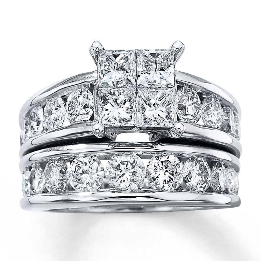 Kay Diamond Bridal Set 4 Ct Tw 14k White Gold Only 6 999 For 4ct Even Though It S Kay Jewelers Bridal Sets Diamond Bridal Sets Wedding Jewelry Sets