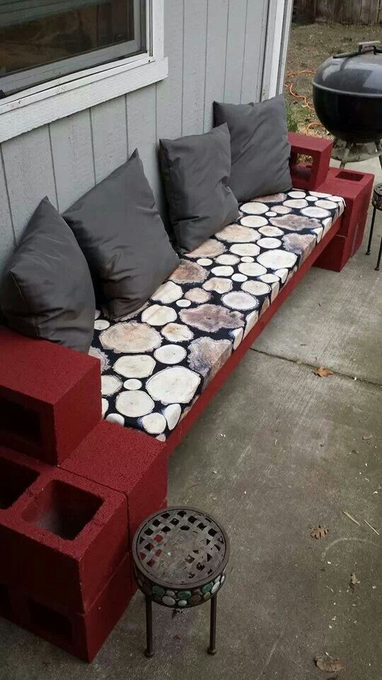 Just Finished My Cinder Block Outdoor Couch Inspired By