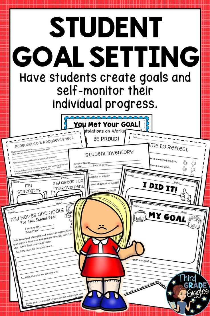 SMART Goal Setting Sheets for Students Goal setting for