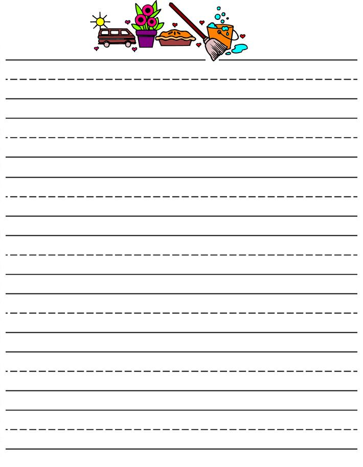 printable kids stationery,Primary lined free printable writing paper