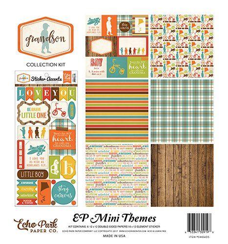 Echo Park Mini Theme EVERYDAY MEMORIES Kit 12x12 Scrapbook Paper Stickers