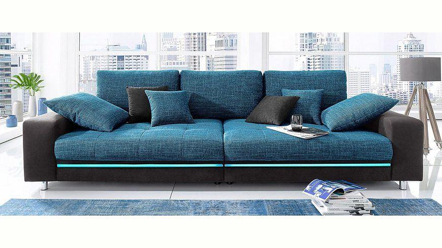 Big Sofa Wahlweise Mit Rgb Led Beleuchtung Energieeffizienz A