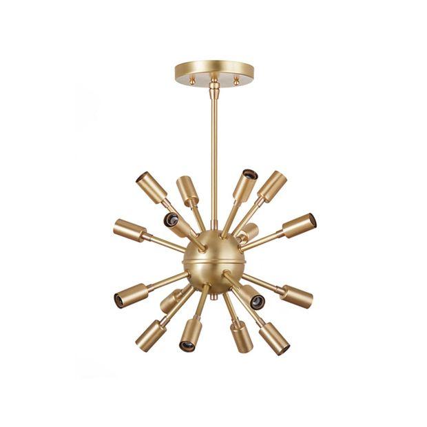 Golden Mini Sputnik Chandelier