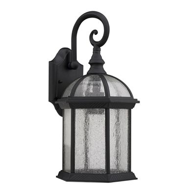 one light black gothic outdoor wall sconce lamp fixture 16 ch1611