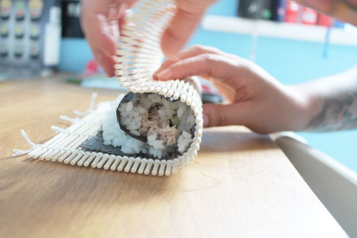 making sushi at home -illustrated teacup