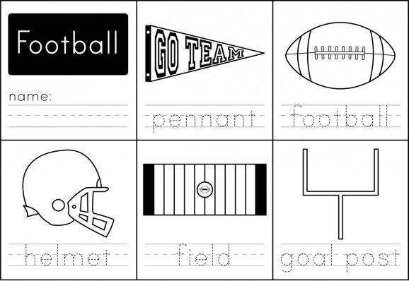 Free Kindergarten Football Worksheets
