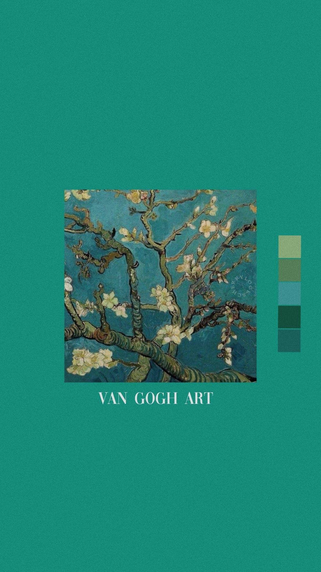 Lockscreen Green Van Gogh 𝚟𝚎𝚛𝚛𝚒𝚗𝚞𝚜 Fondos Para
