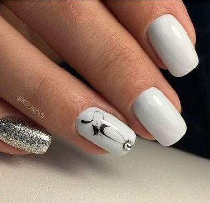 best nails white mirror effect 30 ideas nails  white