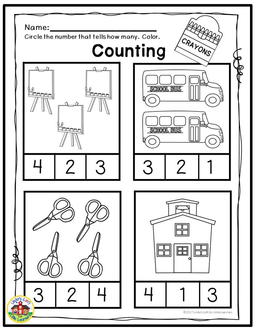 Beginning Of The Year Math Preschool Counting Worksheets Preschool Counting Worksheets Preschool Counting Preschool Math [ 1056 x 816 Pixel ]
