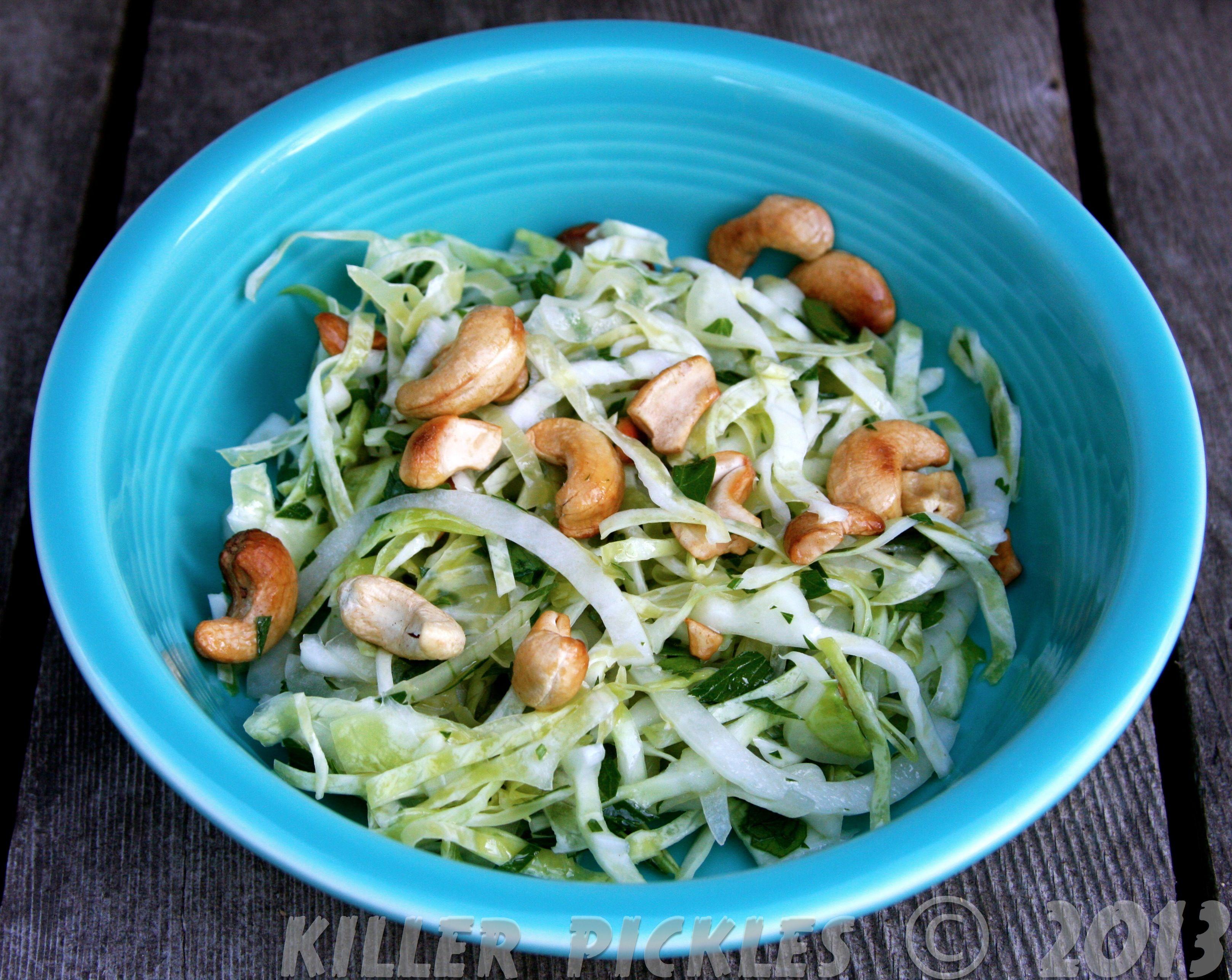 Cabbage & Cashew Salad