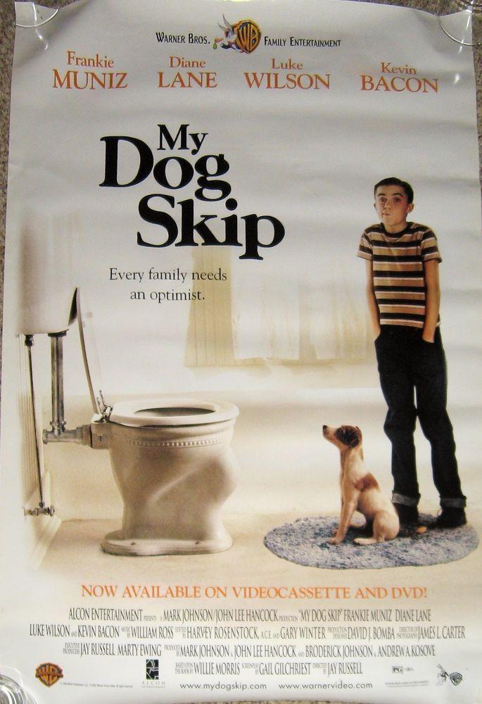 My Dog Skip Movie Poster Frankie Muniz Kevin Bacon Diane Lane Luke Wilson Frankie Muniz Kevin Bacon Family Entertainment