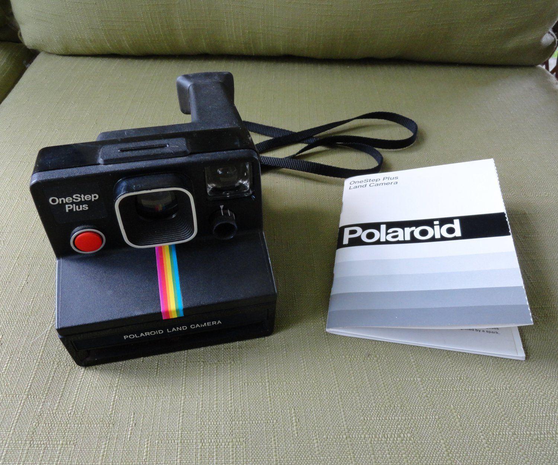 polaroid one step plus camera early 1980 s black with rainbow stripe rh pinterest com Year One Step Polaroid Camera Year One Step Polaroid Camera
