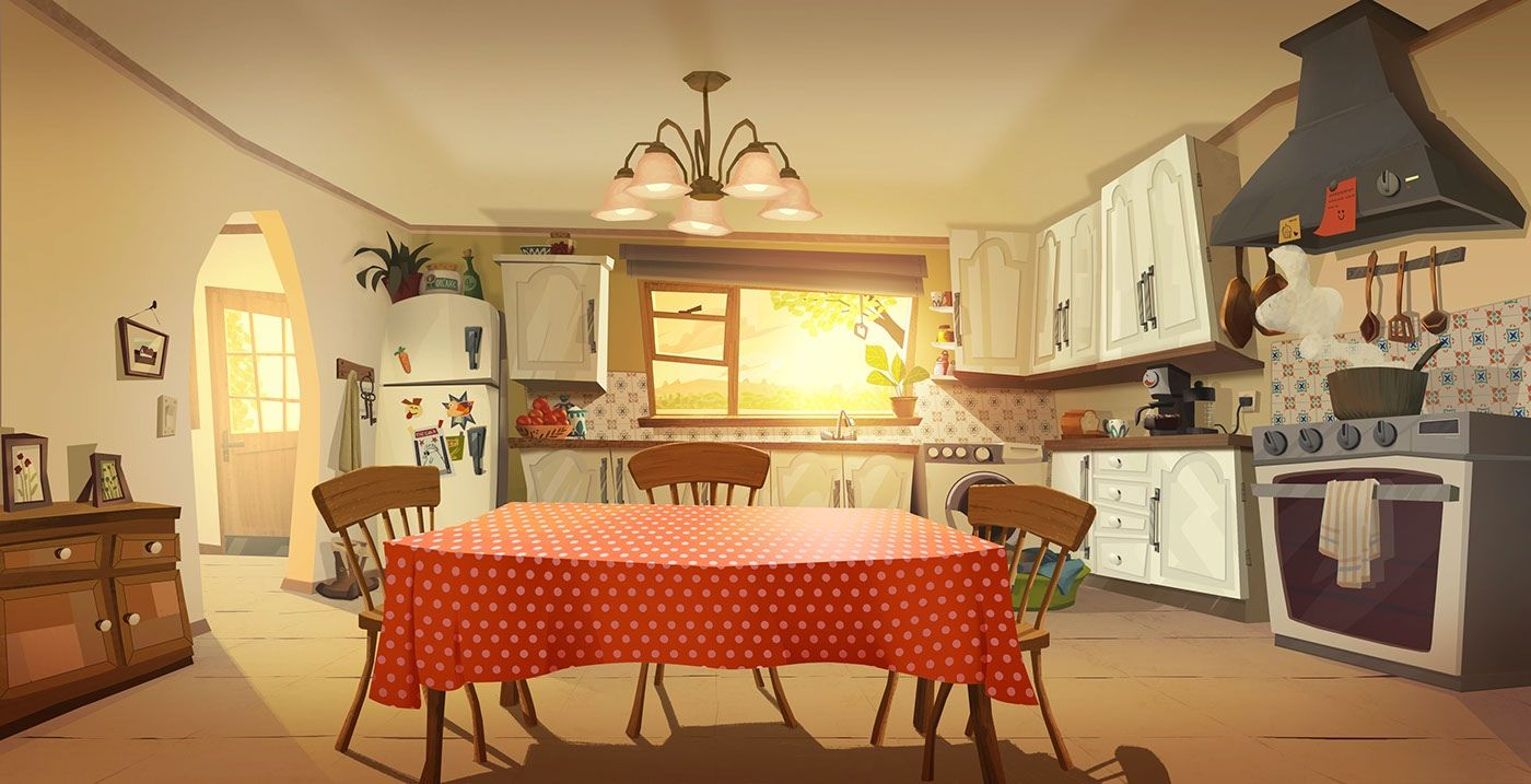 Картинка сказочной кухни