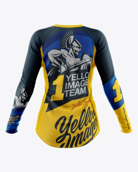 Download Women`s Cycling Jersey Mockup - Back View in Apparel ...