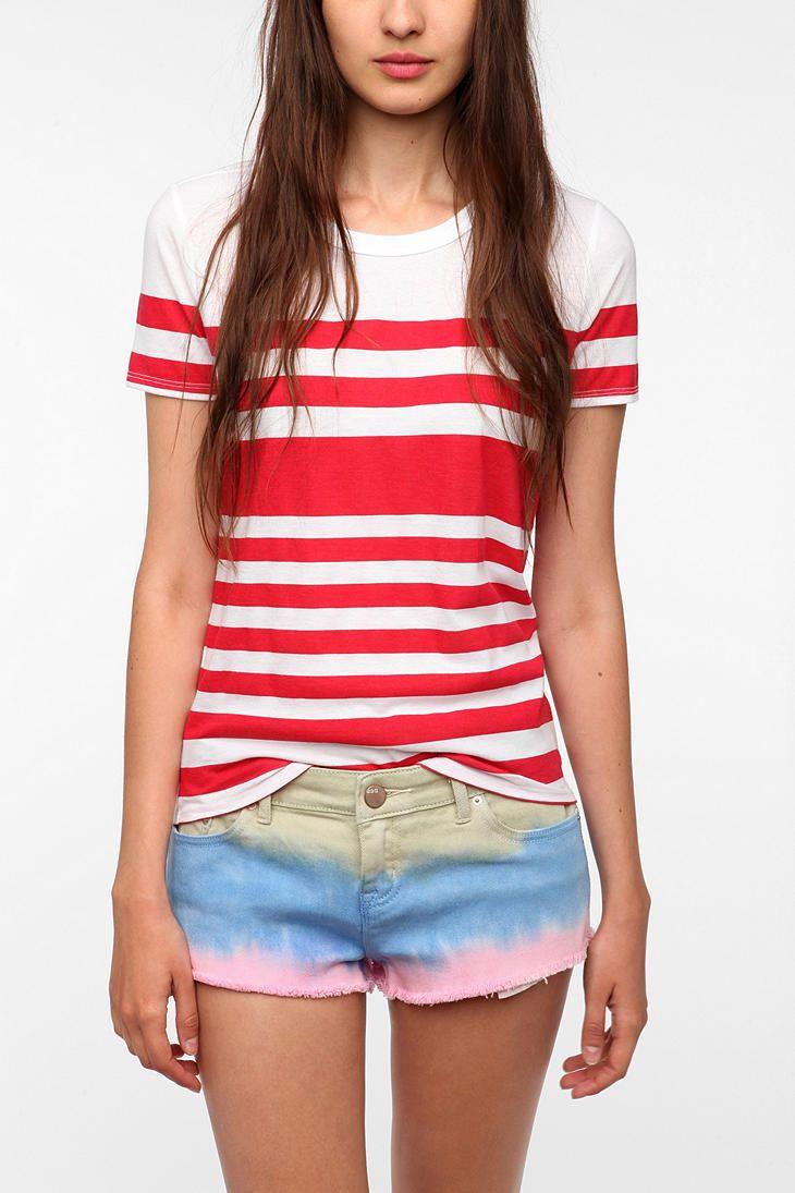 UrbanOutfitters.com > BDG Stripe Crewneck Tee - RED STRIPED!!!