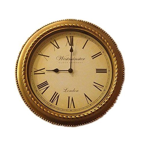 Round Wall Clock 12 Inch Vintage With Roman Numerals Rustic Wall Clocks Clock Classic Clocks
