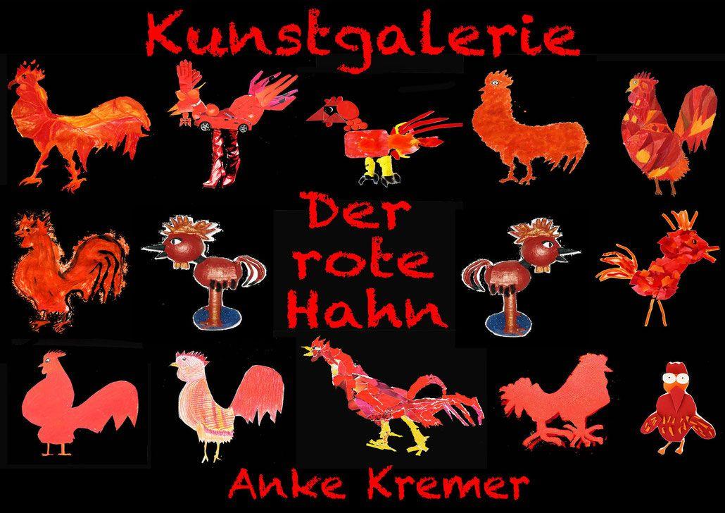 Roter Hahn Kunst kunstunterricht in der grundschule kunstbeispiele für klasse 1 bis