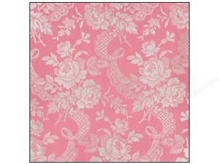 Anna Griffin Paper 12 x 12 in. Camilla Foil Floral Pink