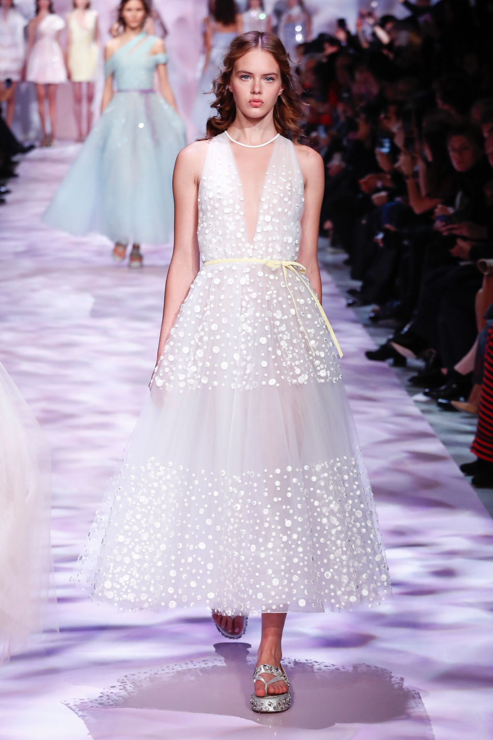 Festive grace - Georges Chakra Couture Spring Summer 2017 ...