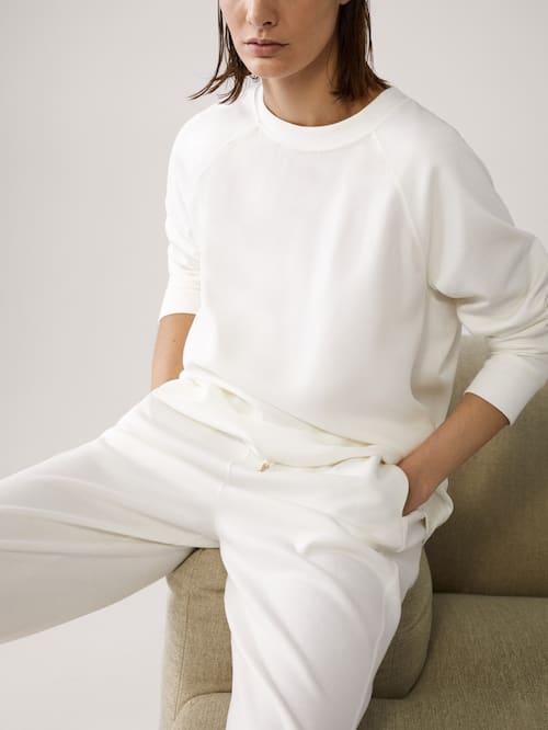 Round Neck Sweatshirt Women Massimo Dutti Crewneck Sweatshirt Women Elegant Sweatshirt Crew Neck Sweatshirt