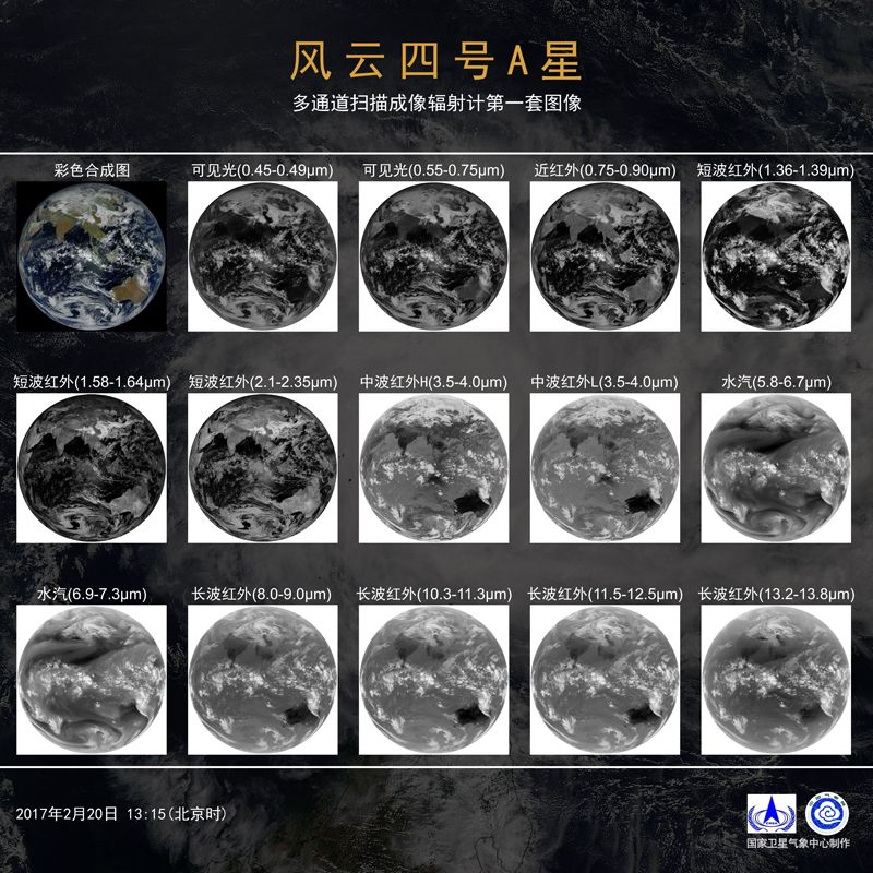 The First Imagery From China S Feng Yun 4a Weather Satellite Released World Meteorological Organization Weather Satellite Satellites Earth From Space