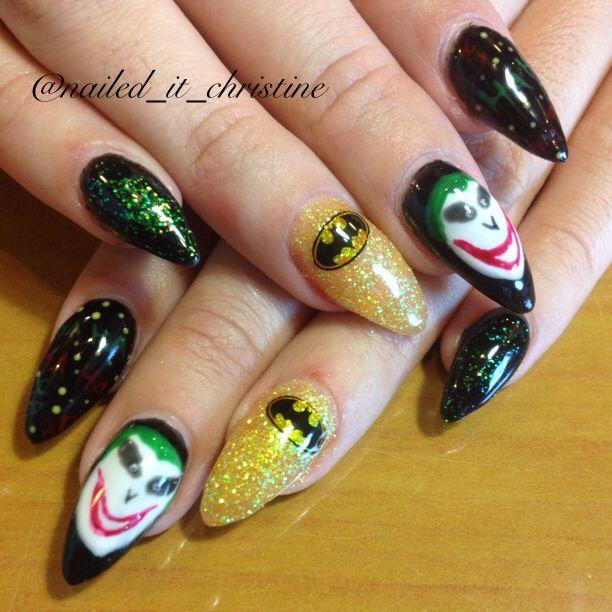 Batman, joker acrylic nail art | My creations | Pinterest | Acrylic ...