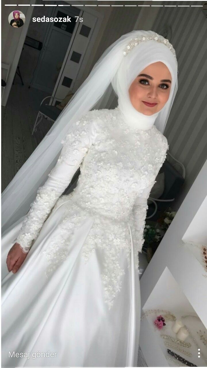 Pin by Merve Cevik on Hochzeit | Pinterest | Wedding dress, Muslim ...