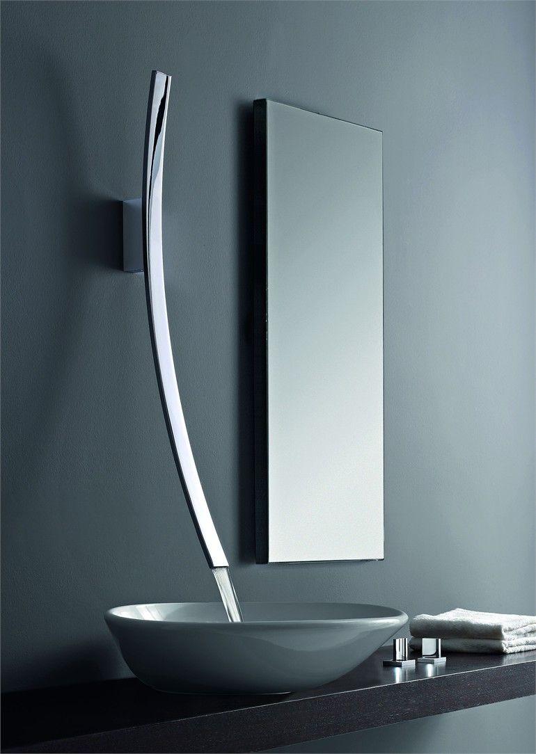 Wall-mounted washbasin tap. LUNA by Graff Europe West. | Minimalist ...